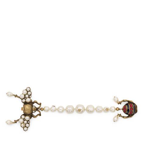 饰水晶珍珠蜜蜂造型手镯