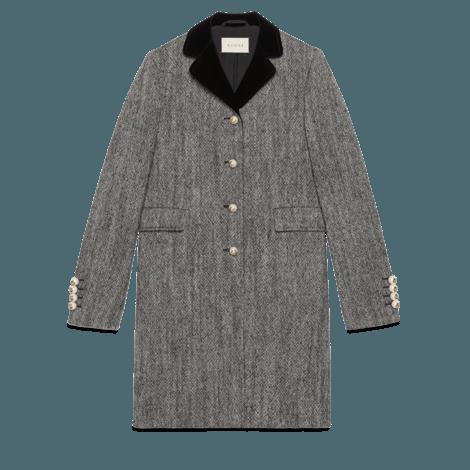 单排扣羊毛大衣