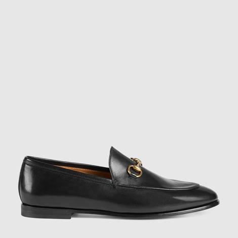 Gucci Jordaan系列皮革马衔扣乐福鞋