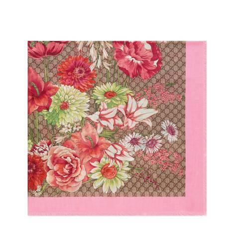春季花束莫代尔真丝混纺披肩