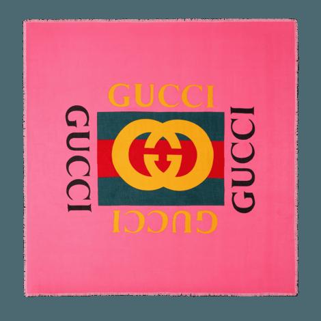 Gucci标识莫代尔真丝混纺披肩