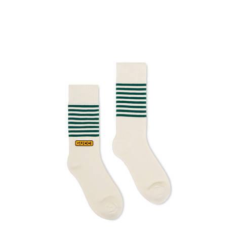 Gucci-Dapper Dan联名系列女士棉质短袜