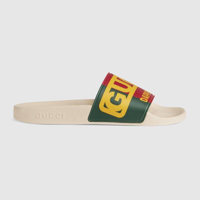 2046f33ed Gucci Women's -Dapper Dan Slide Sandal In Green | ModeSens