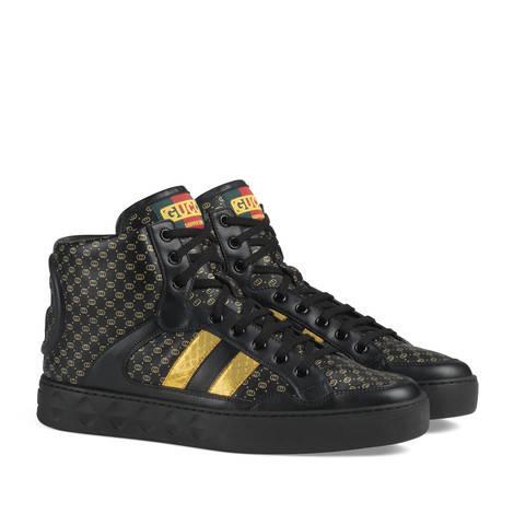Gucci-Dapper Dan联名系列男士运动鞋
