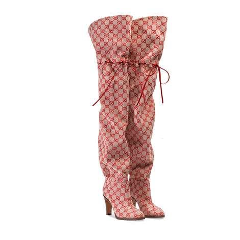 GG帆布过膝长靴