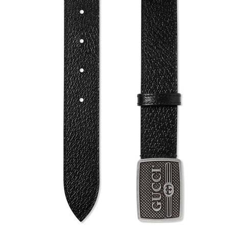 Gucci标识搭扣皮革腰带
