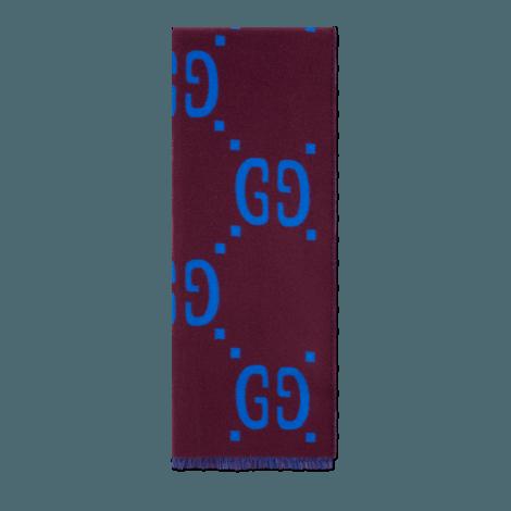 GG提花羊毛真丝混纺围巾