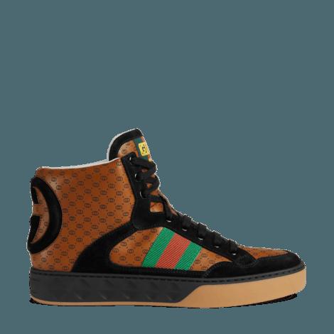 Gucci-Dapper Dan联名系列女士运动鞋