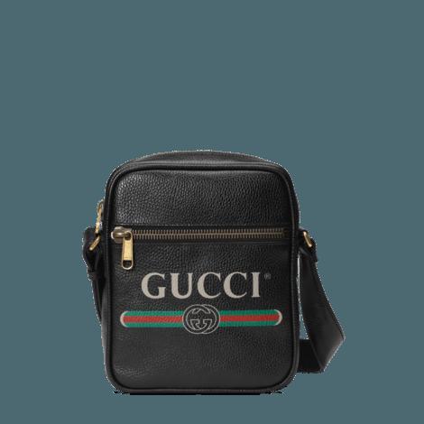 Gucci印花邮差包