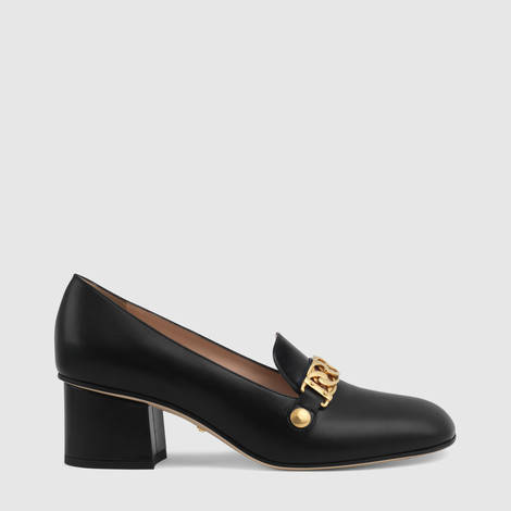 Sylvie系列皮革中跟浅口鞋