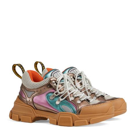 Flashtrek系列皮革和帆布运动鞋