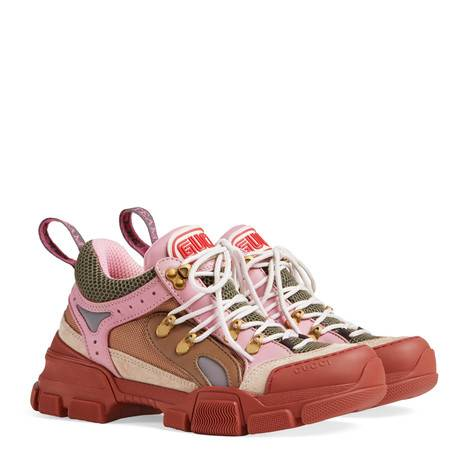 Flashtrek皮革和帆布运动鞋