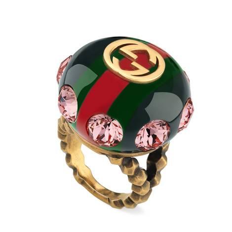 复古条纹织带戒指