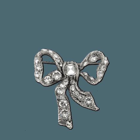 金属蝴蝶结胸针