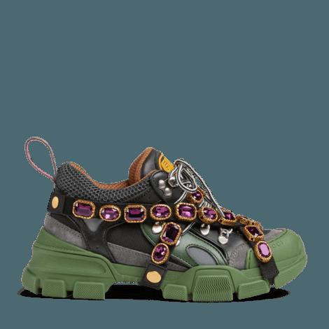Flashtrek系列饰可拆卸水晶运动鞋
