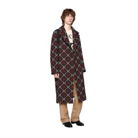 GG菱形羊毛大衣