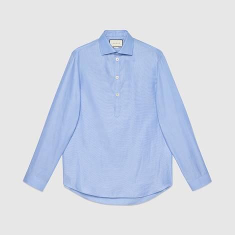 超大造型棉衬衫