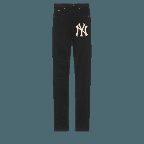 NY Yankees™贴饰女士紧身牛仔裤