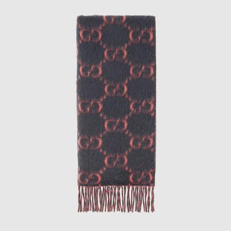 GG羊驼毛羊毛混纺围巾