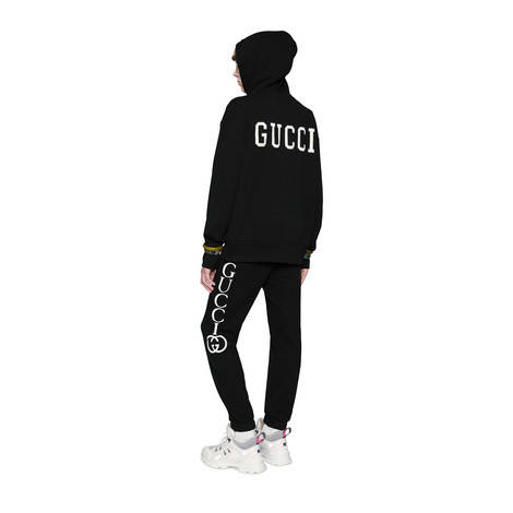 Gucci印花慢跑长裤
