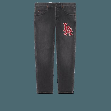 LA Angels™贴饰男士牛仔裤