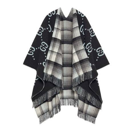 双面GG羊毛披巾