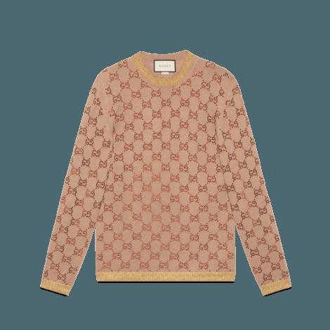 水晶GG图案毛衣