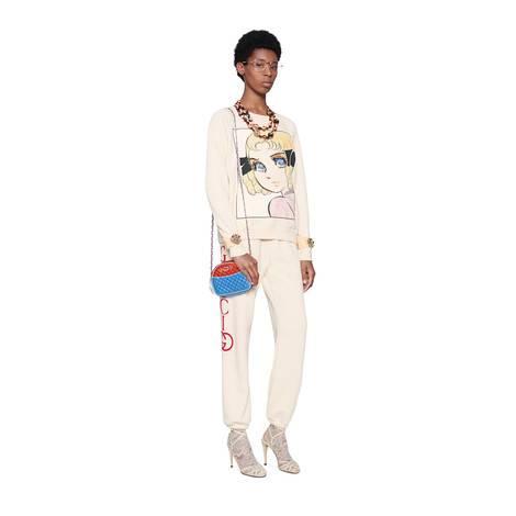 Gucci标识慢跑长裤