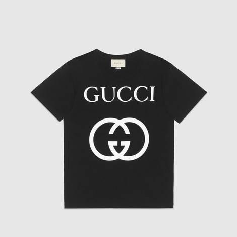 饰互扣式G超大造型T恤