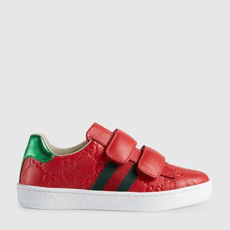 儿童Gucci Signature织带运动鞋