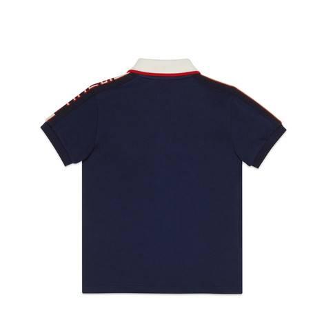 儿童Gucci条纹polo衫