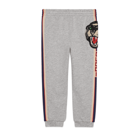 儿童Gucci条纹慢跑长裤