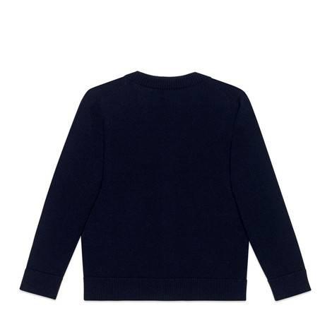 儿童刺绣羊毛开衫