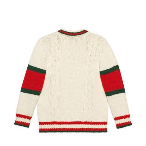 儿童绞花针织棉质开衫