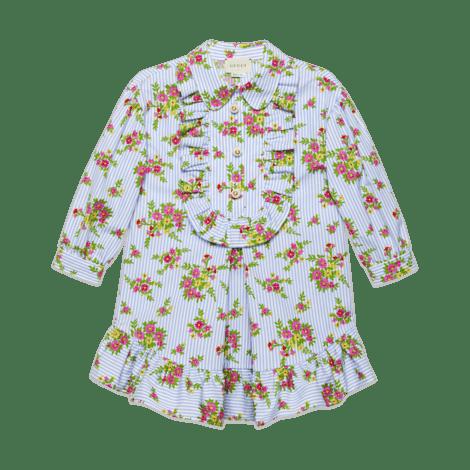 儿童花卉印花府绸连衣裙