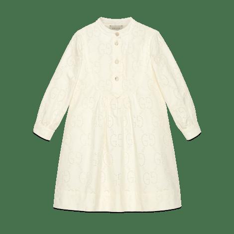 儿童GG刺绣英伦风连衣裙