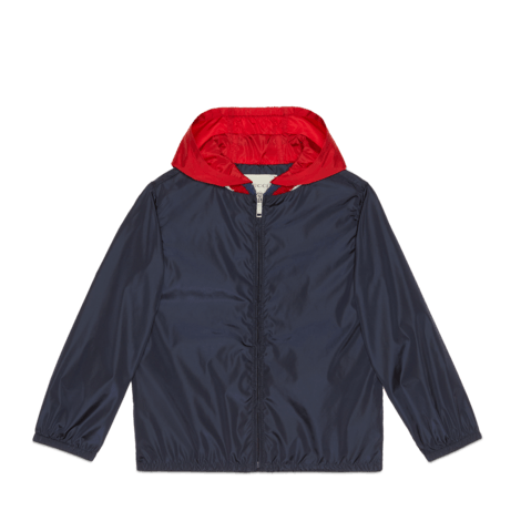 儿童Gucci标识尼龙夹克