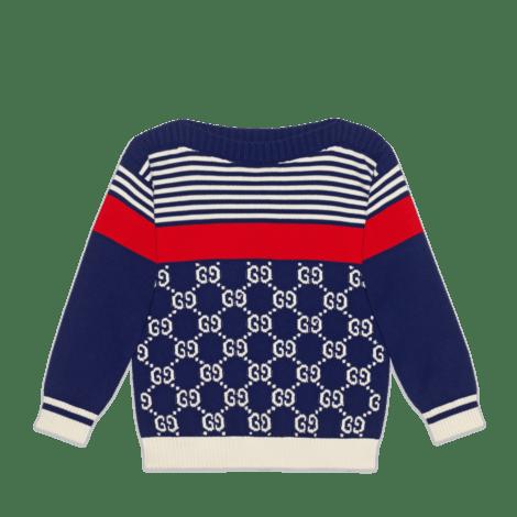 儿童GG和条纹针织毛衣