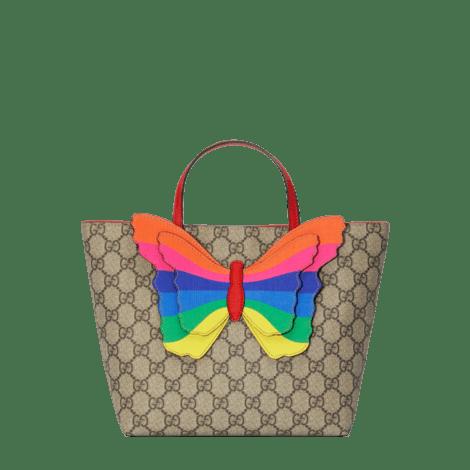 儿童GG彩虹蝴蝶购物袋