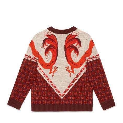 儿童祥龙图案混纺毛衣