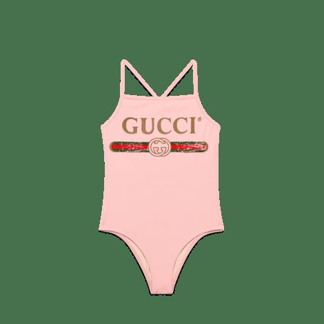 儿童Gucci标识泳装式连体衣