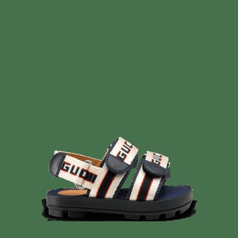 幼儿Gucci条纹凉鞋