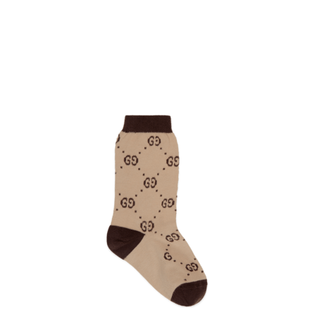 儿童GG图案棉短袜