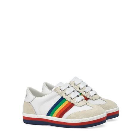 G74系列幼儿彩虹条纹运动鞋