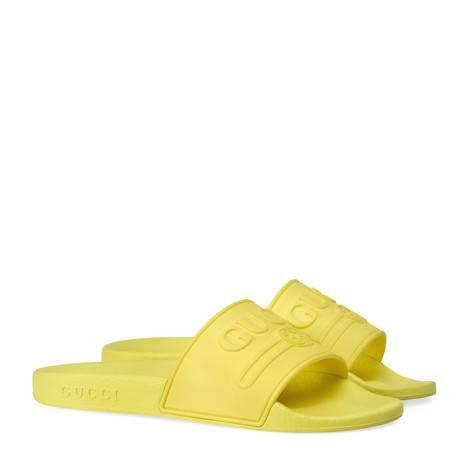 儿童Gucci标识橡胶凉鞋