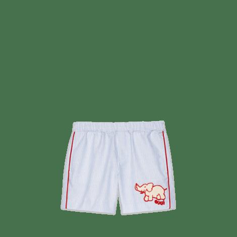儿童大象图案牛津百慕大短裤