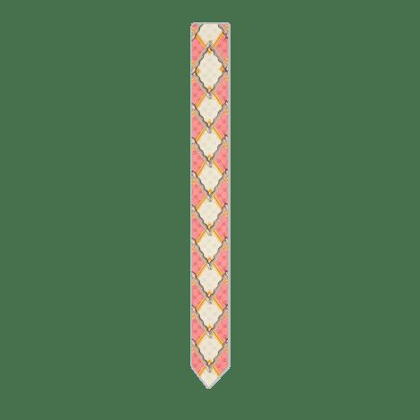 灵蛇菱形印花真丝领结