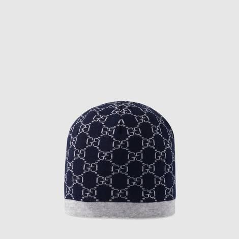 儿童GG图案羊毛帽