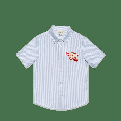 儿童大象图案牛津衬衫