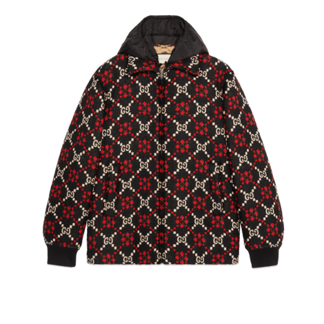 大GG菱形羊毛夹克